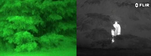flir nv vs thermal night vision