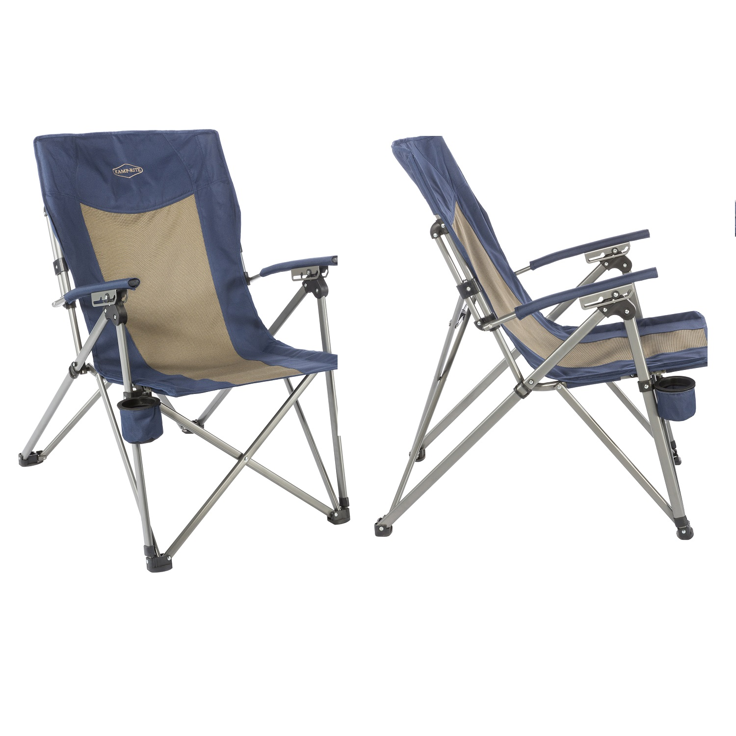 Awe Inspiring Kamp Rite 3 Position Hard Arm Reclining Chair W Cup Holder Dailytribune Chair Design For Home Dailytribuneorg