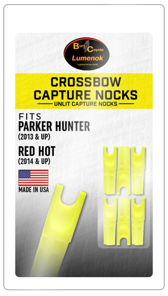 """4 NEW Parker Red Hot 20/"""" Crossbow Arrows Bolts W// Capture Nocks /& 1 Lighted Nock"""