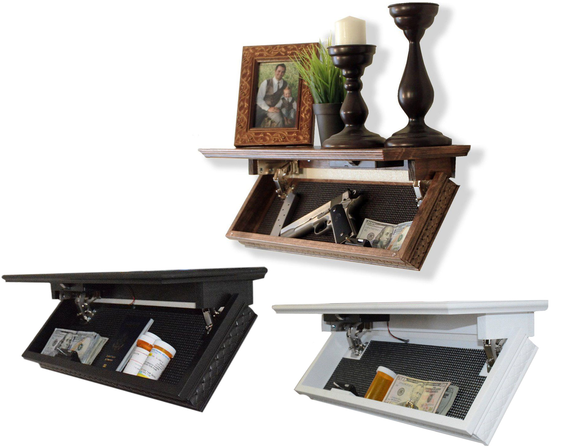 "NEW Quick Shelf QuickSafes Hidden Compartment Shelf Safe RFID Quick Access 24/"""