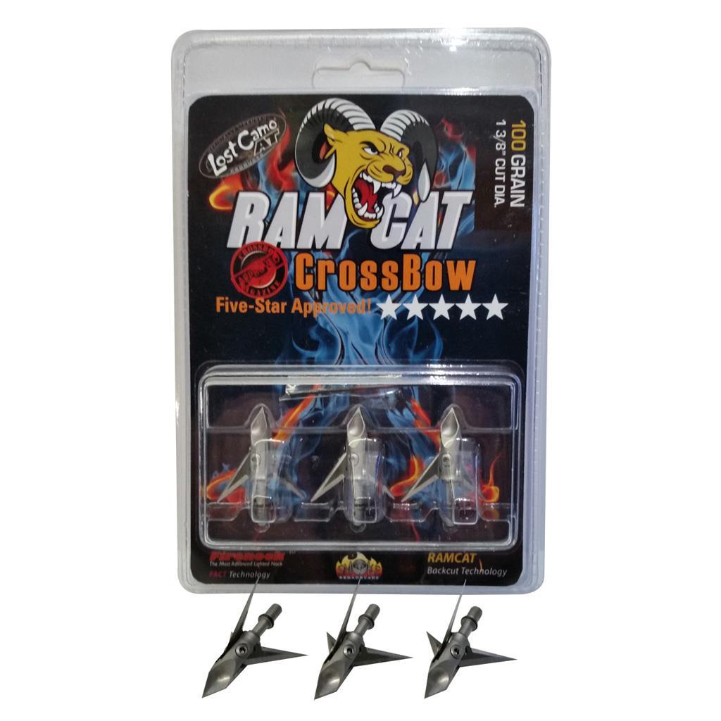 Ram Cat DiamondBack Fixed Deep Six 3 Blade 100 Gr Broadhead 3 Pk RamCat R1006