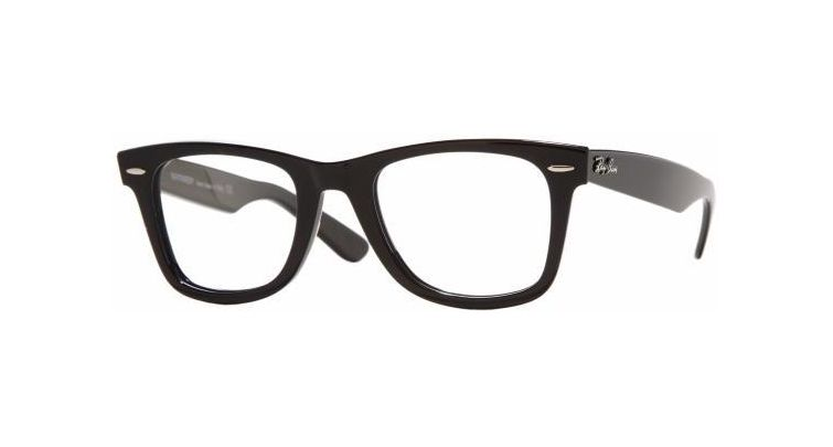 b28f41338cd84 Ray-Ban Original Wayfarer Eyeglasses RX5121 with No-Line Progressive Rx  Prescription Lenses RX5121-2000-50 Frame Color  Black