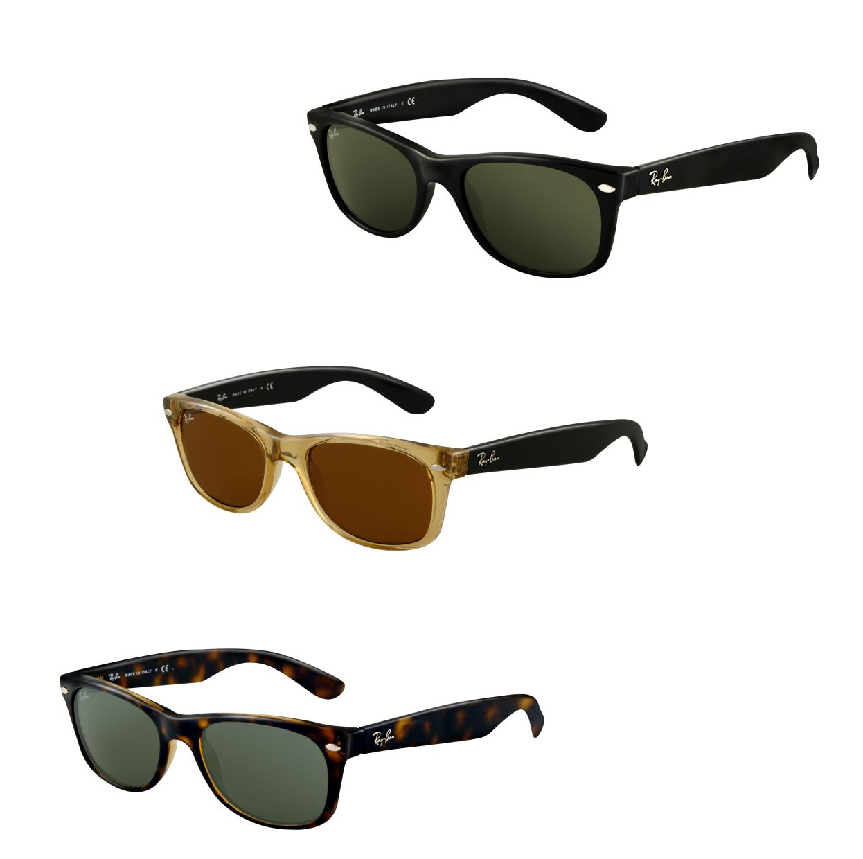 fabce0cd1f Ray-Ban New Wayfarer RB2132 Sunglasses - 65 Models