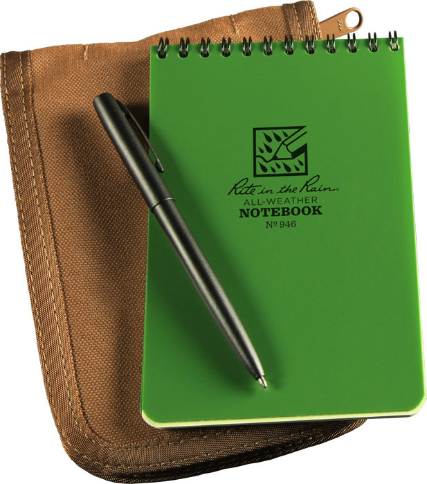 Rite in the Rain 946-Kit All-Weather Universal Spiral Notebook Kit Green//Tan