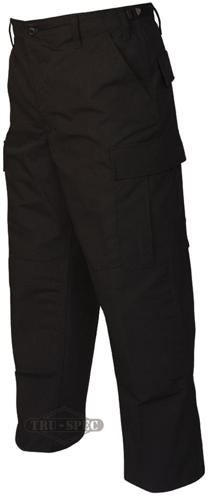 Tru-Spec 1995 Mens Gen-1 Police BDU Pants Rip-Stop Black