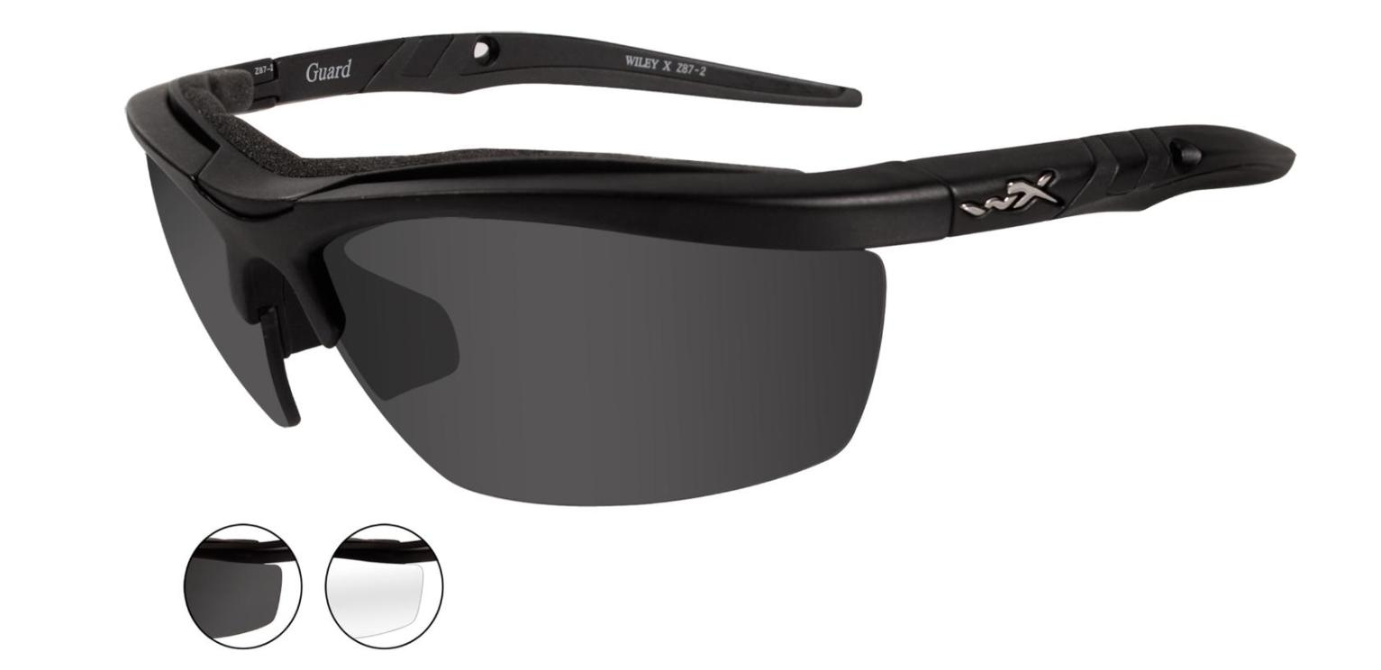 8332f1726ca Wiley X Guard Tactical Sunglasses w  3 Interchangeable Lenses and Case