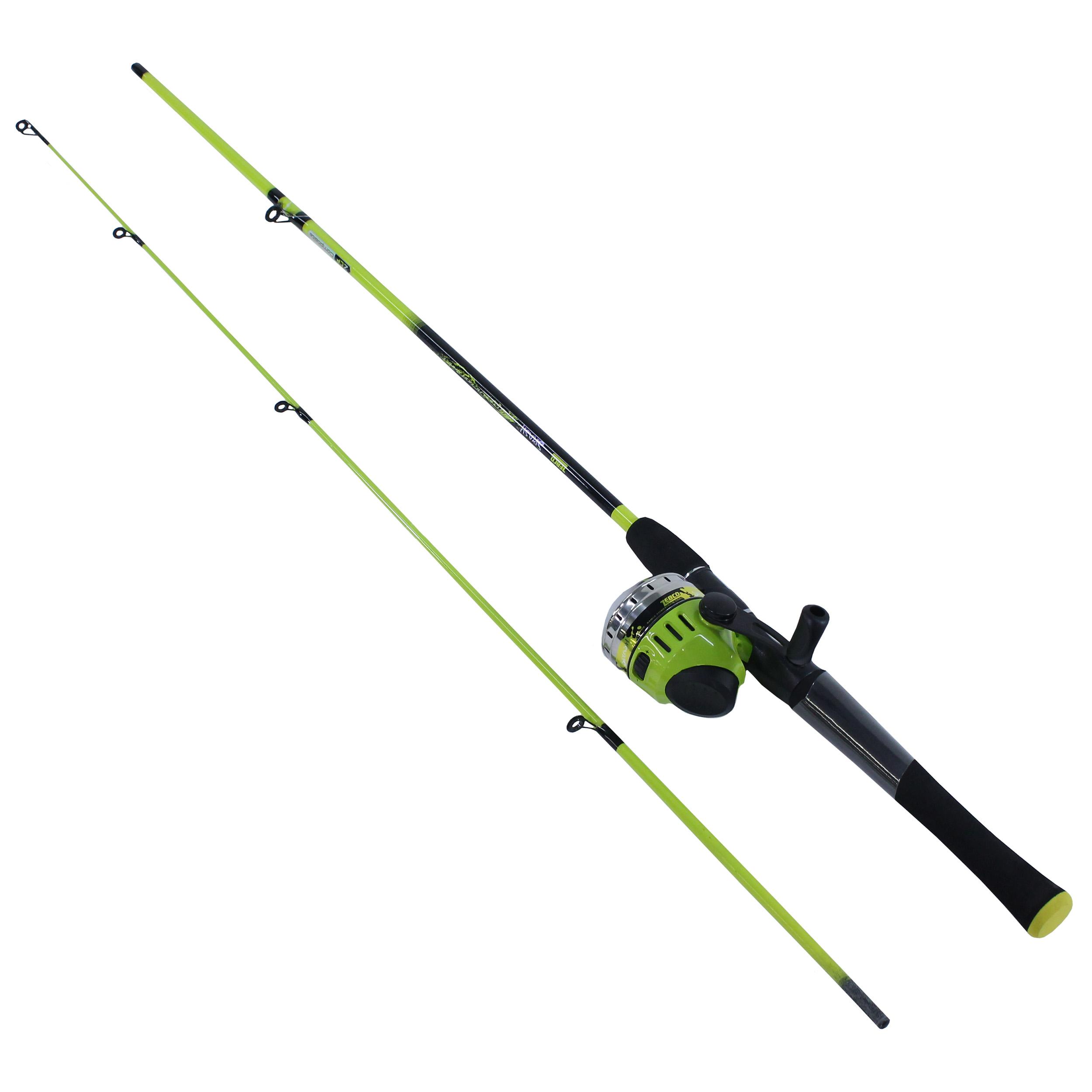 Zebco Splash 6 Ft 2-Piece Rod /& Reel Combo Fishing Pole